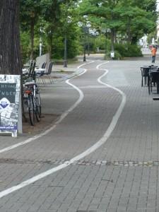 der gleiche Radweg in Nürnberg