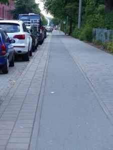 ganz normaler Radweg in Fürth